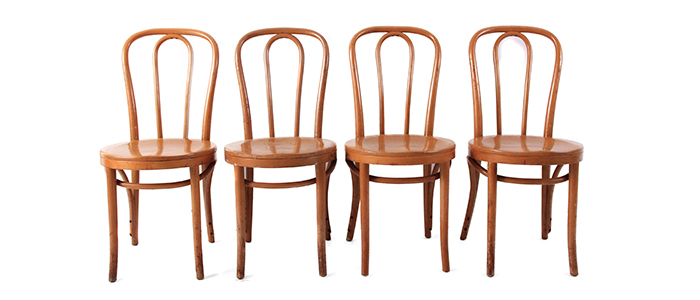 Vintage Bentwood Chairs - Set of 4