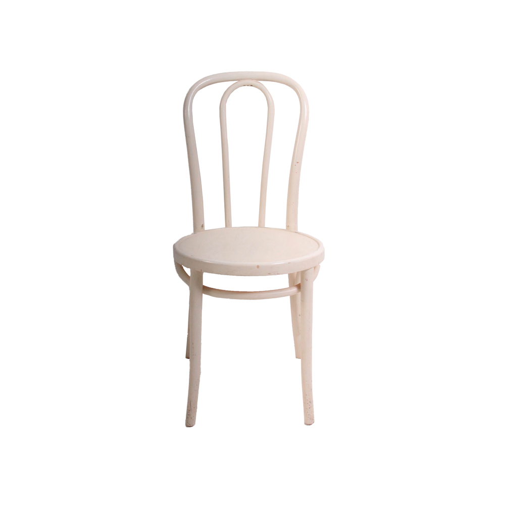 Vintage White Bentwood Chair