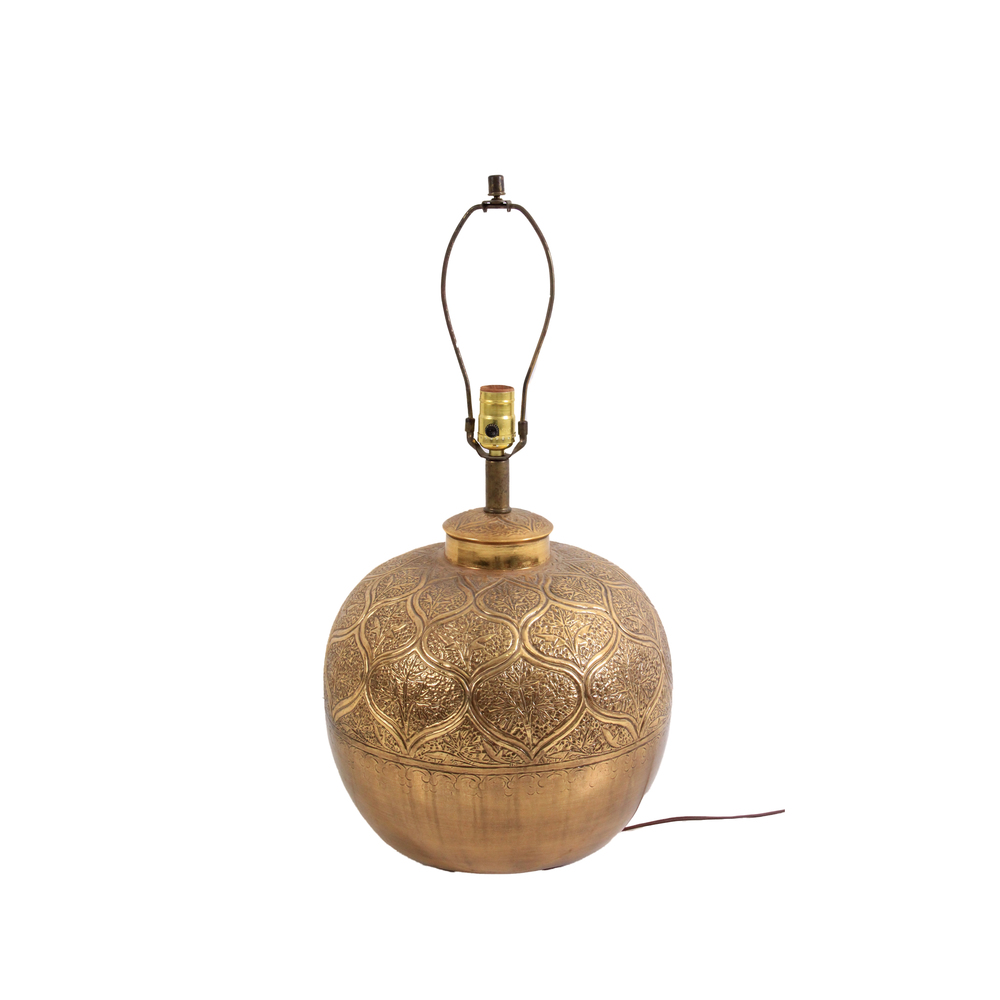 Vintage Brass Moroccan Table Lamp