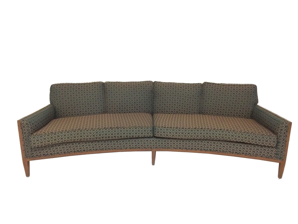 vintage mid century modern round sofa