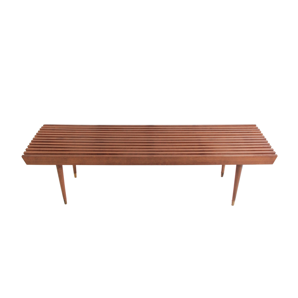 Long Vintage Slat Bench