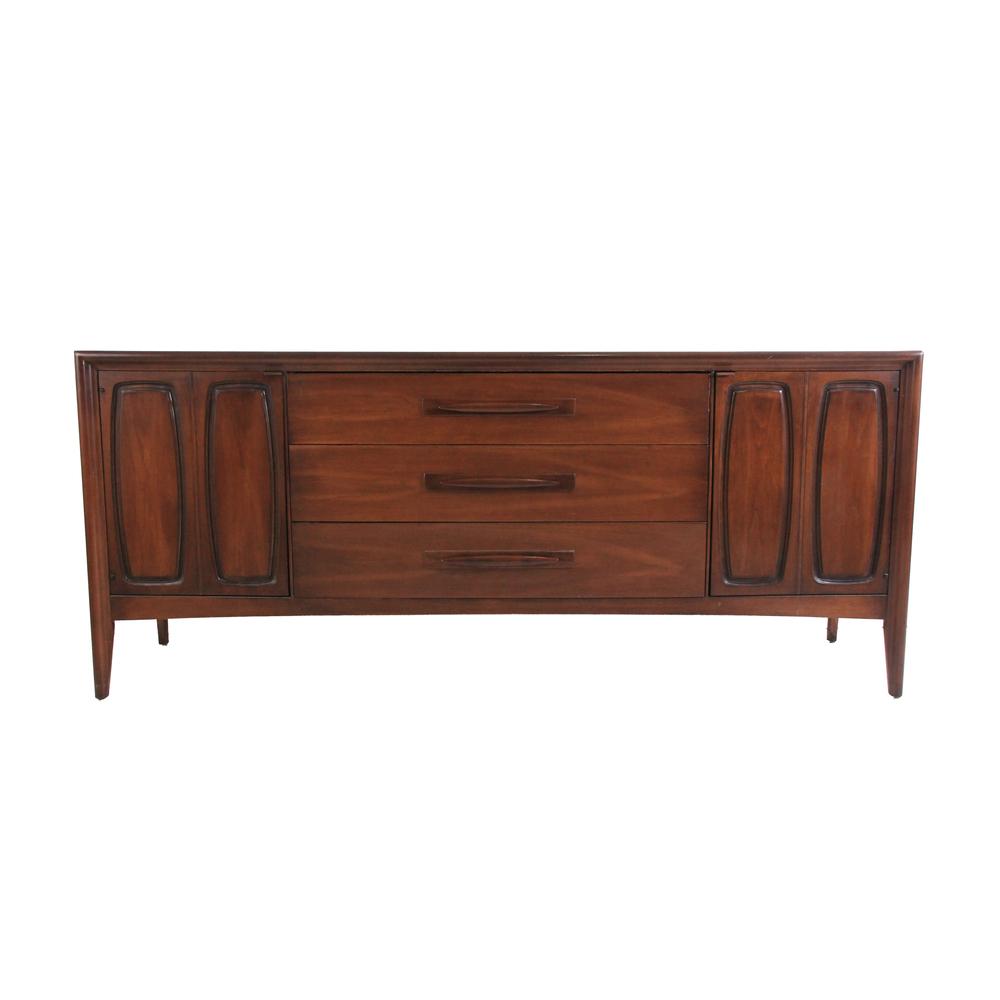 Vintage Mid Century Modern Broyhill Long Dresser Credenza
