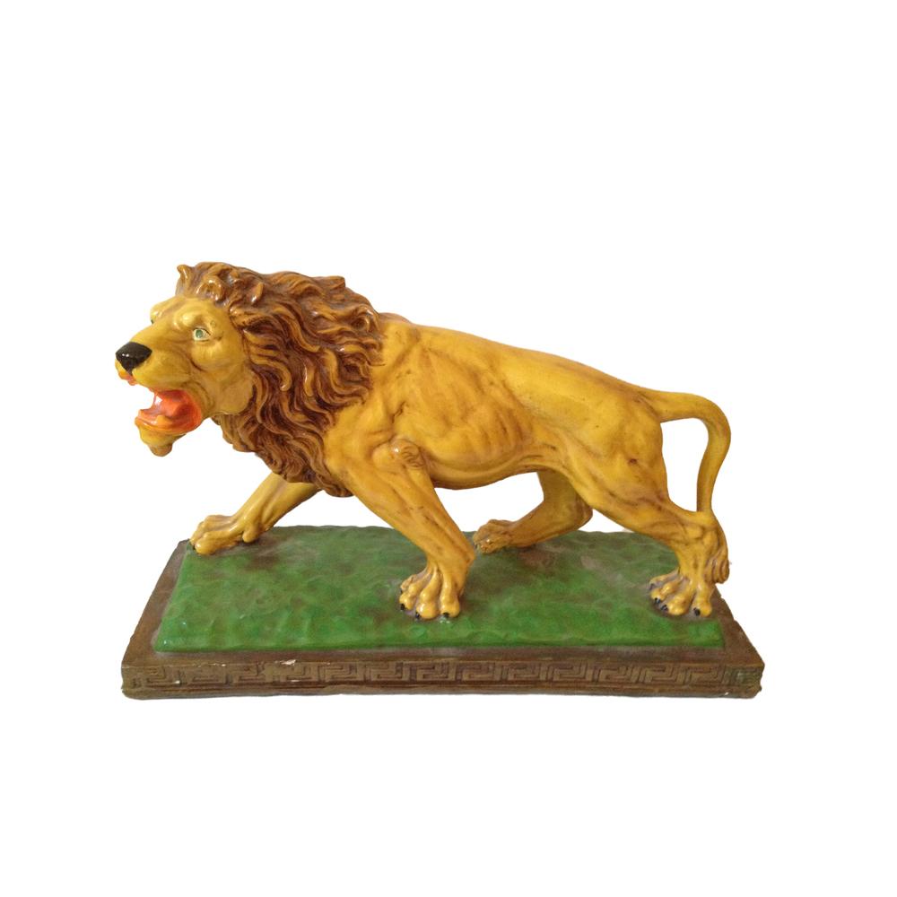 Vintage Ceramic Lion Statue