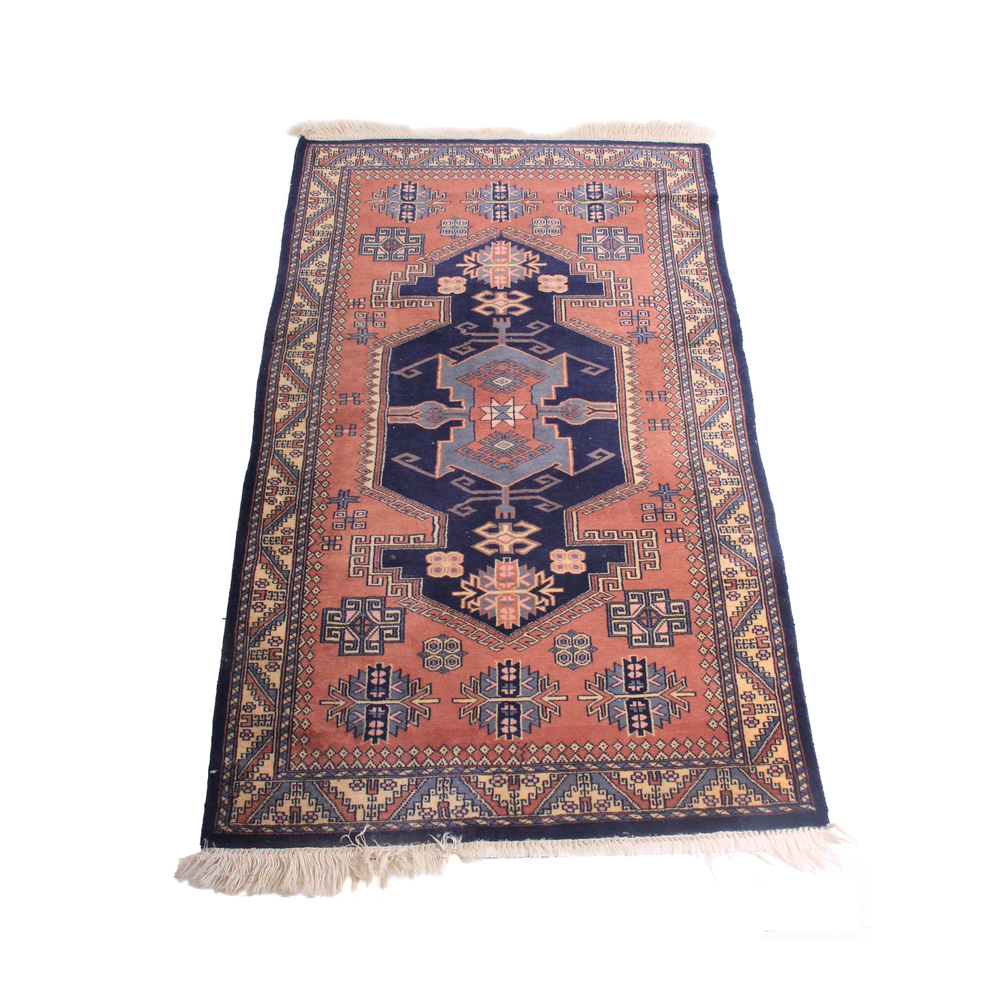Antique Persian Rug - Pink and Blue