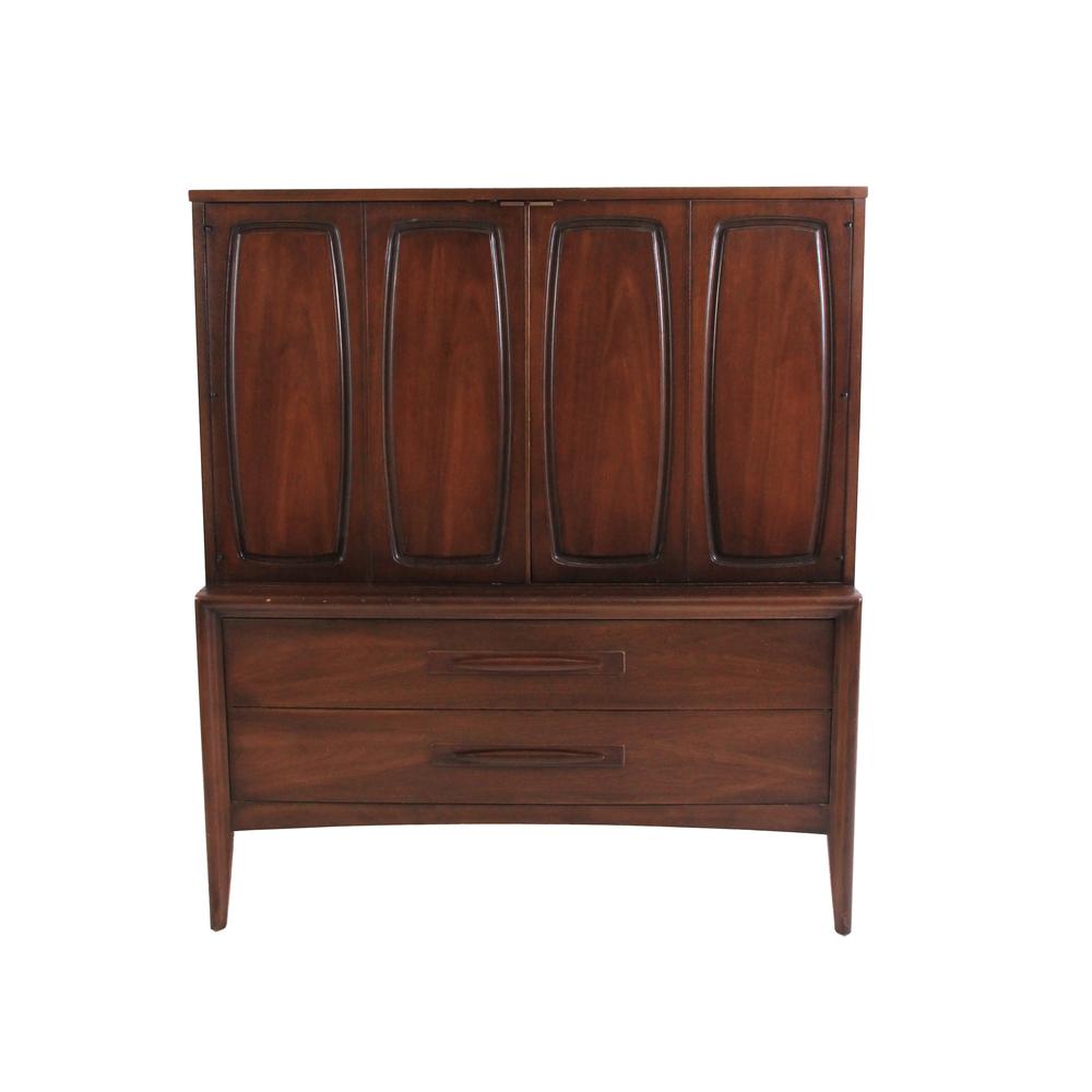 Vintage Mid Century Modern Broyhill Armoire Dresser