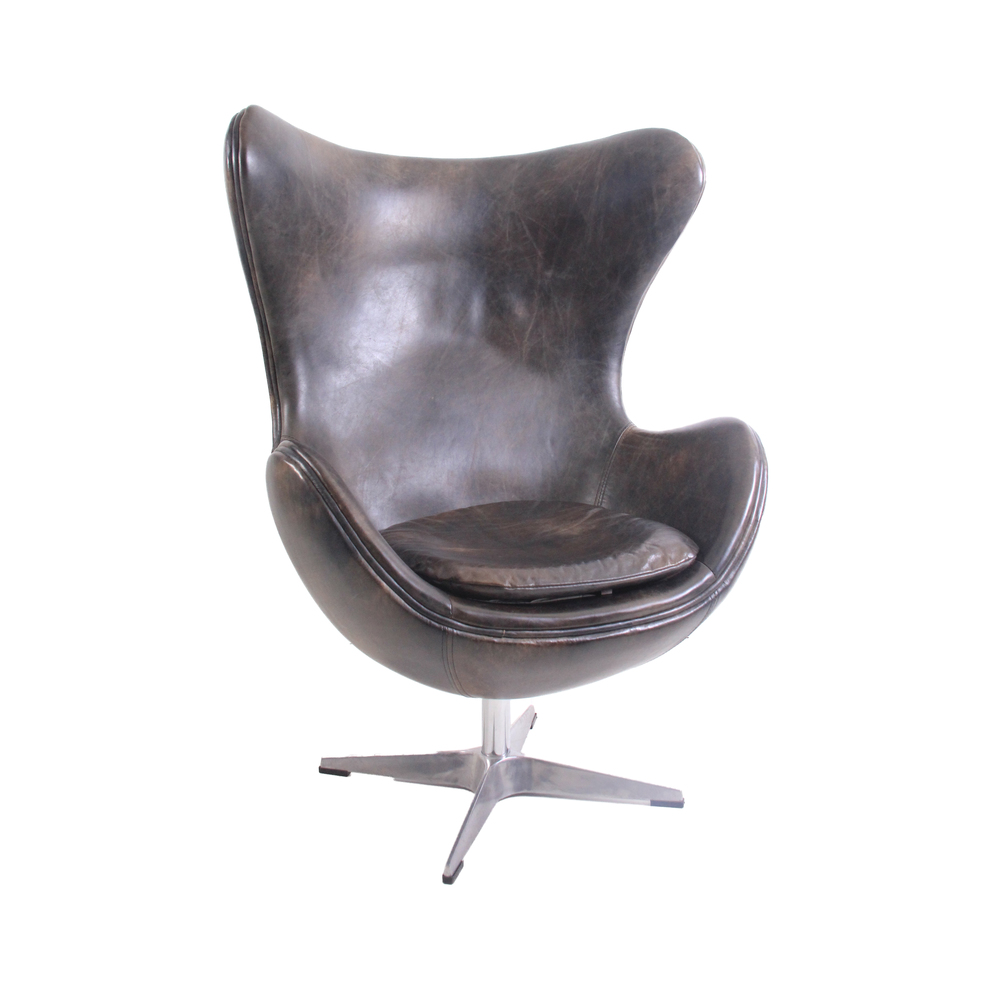 Modern Leather Egg Chair