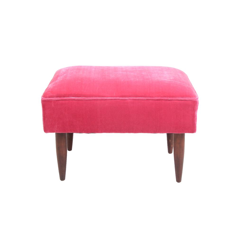 Vintage Hot Pink Ottoman