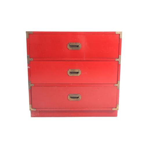 Vintage Red Campaign Dresser