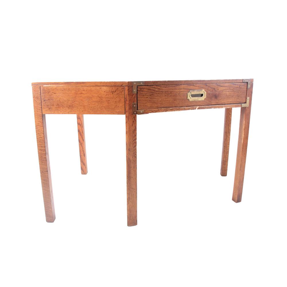 Vintage Campaign Corner Desk