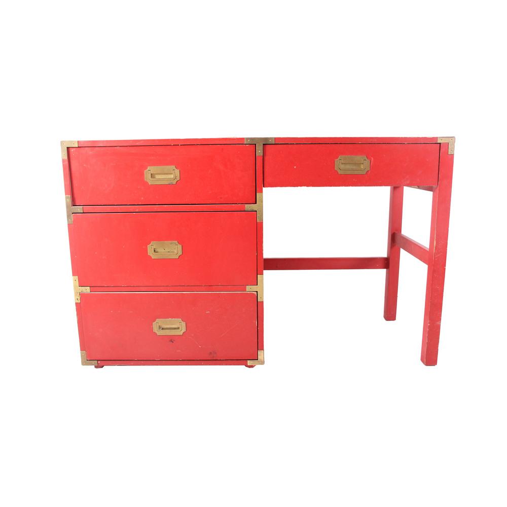 Vintage Red Desk