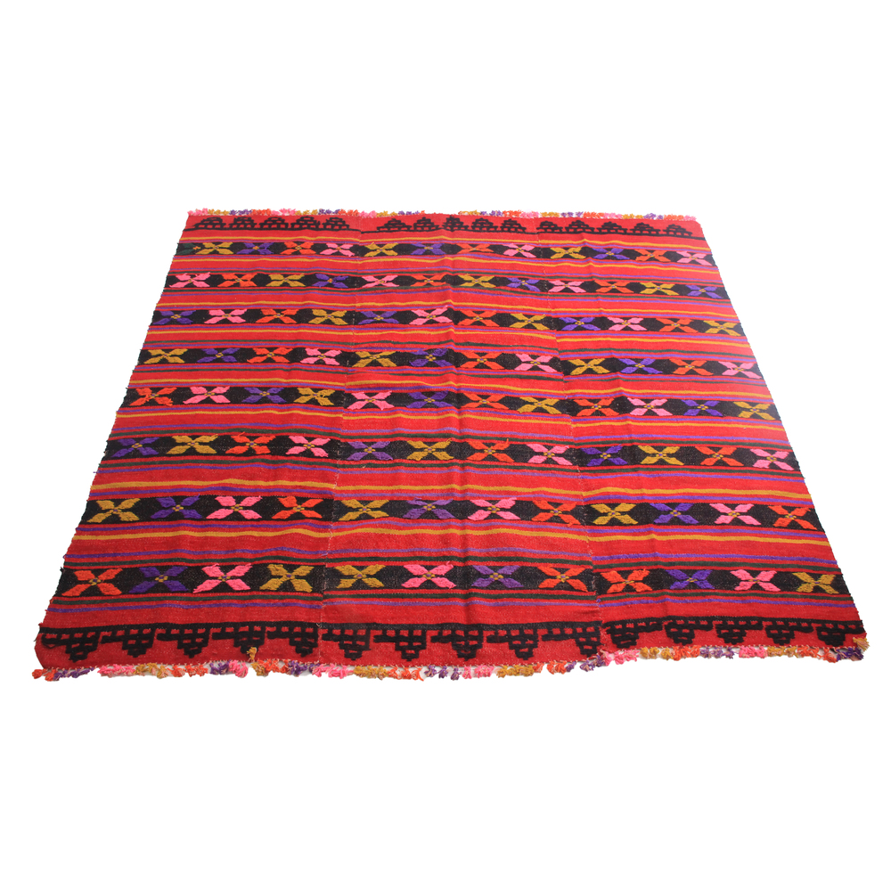 Vintage Colorful Woven Rug