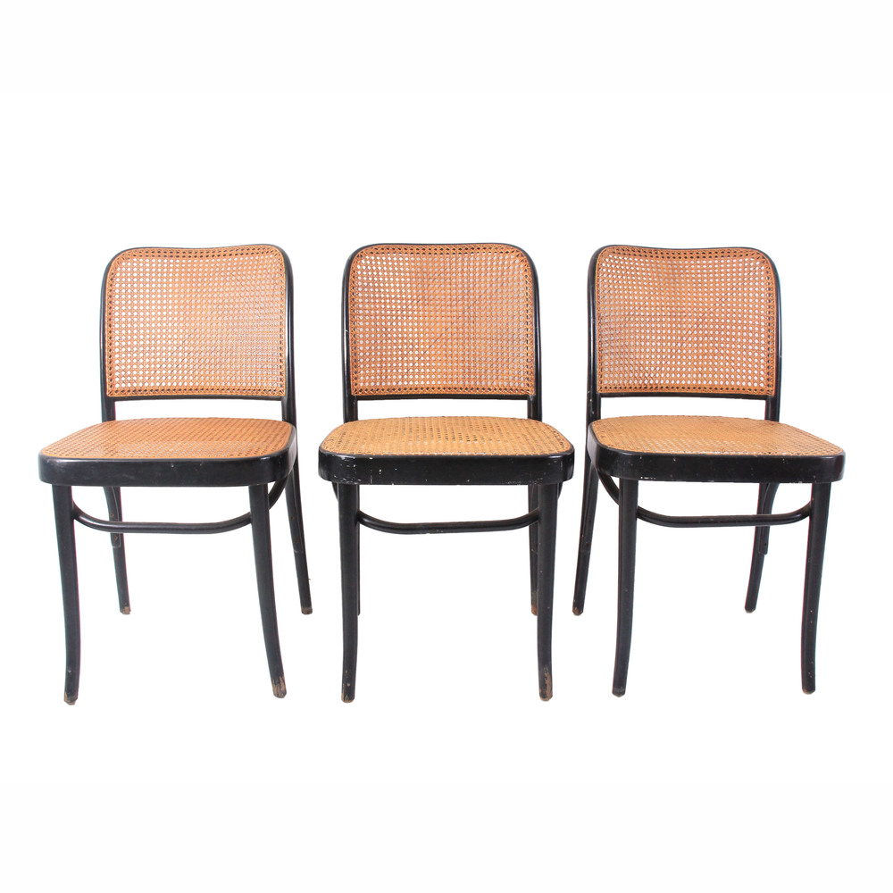 Set of 3 Vintage Black Bentwood Chairs