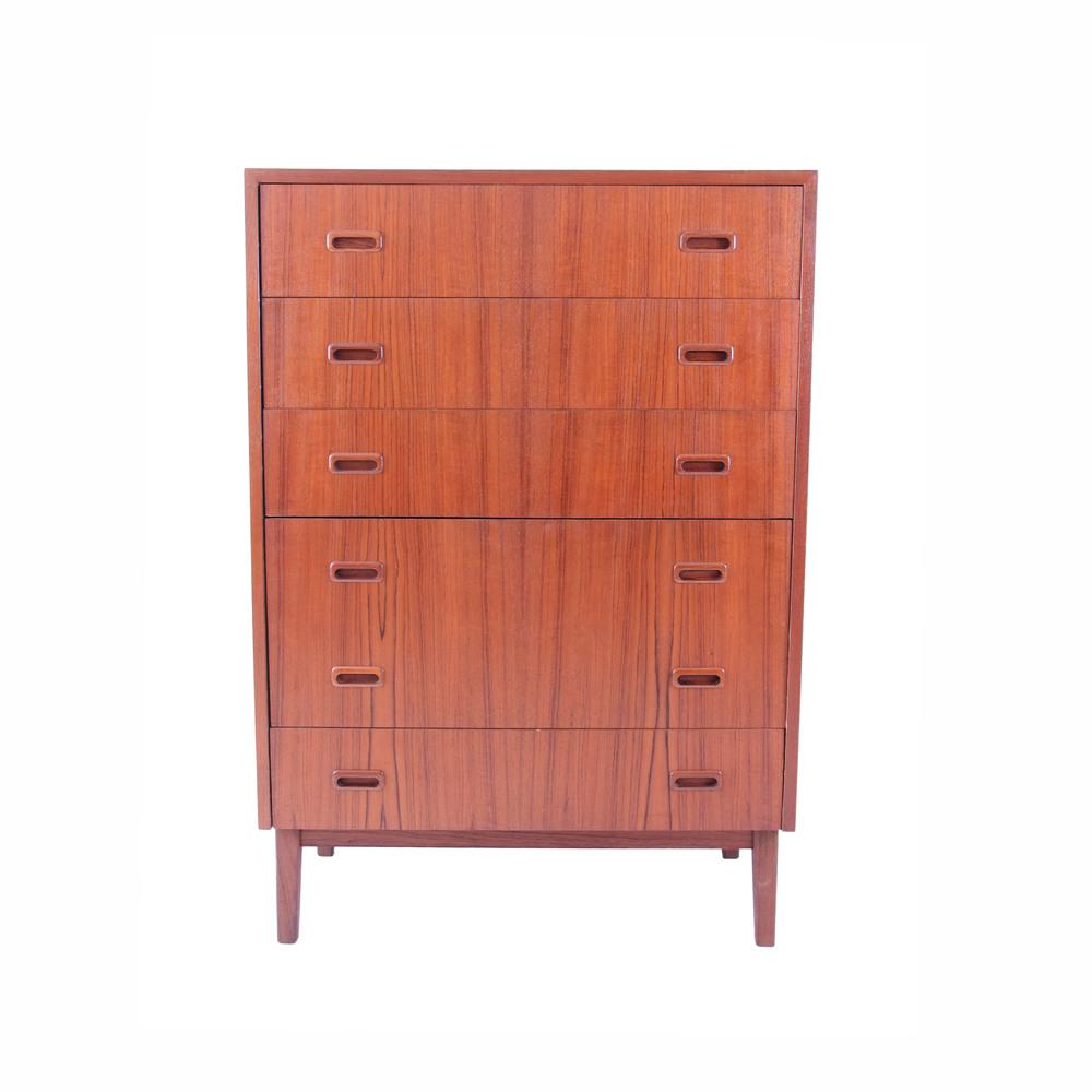 Vintage Mid Century Modern Teak Highboy Dresser