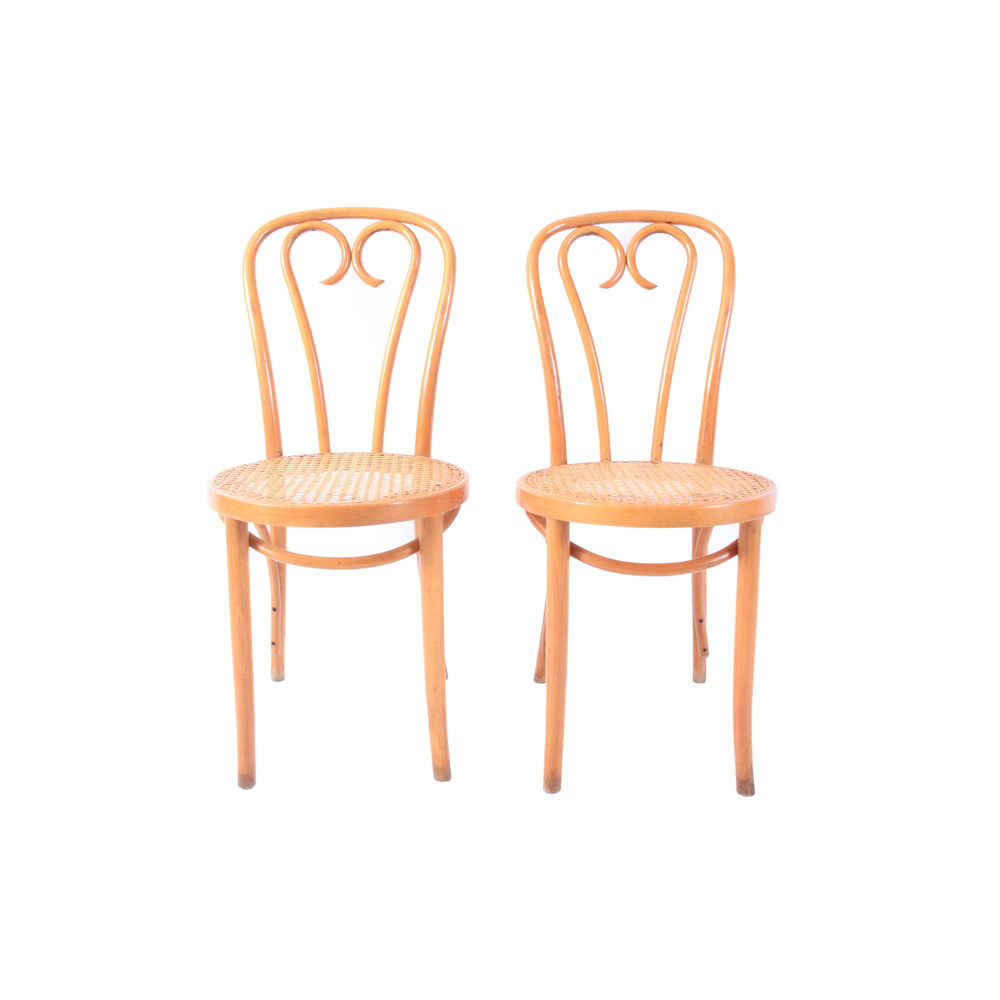 Pair of Vintage Bentwood Bistro Chairs