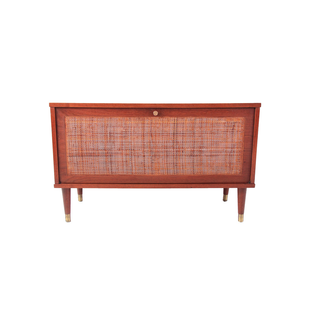 Vintage Mid Century Modern Record Cabinet