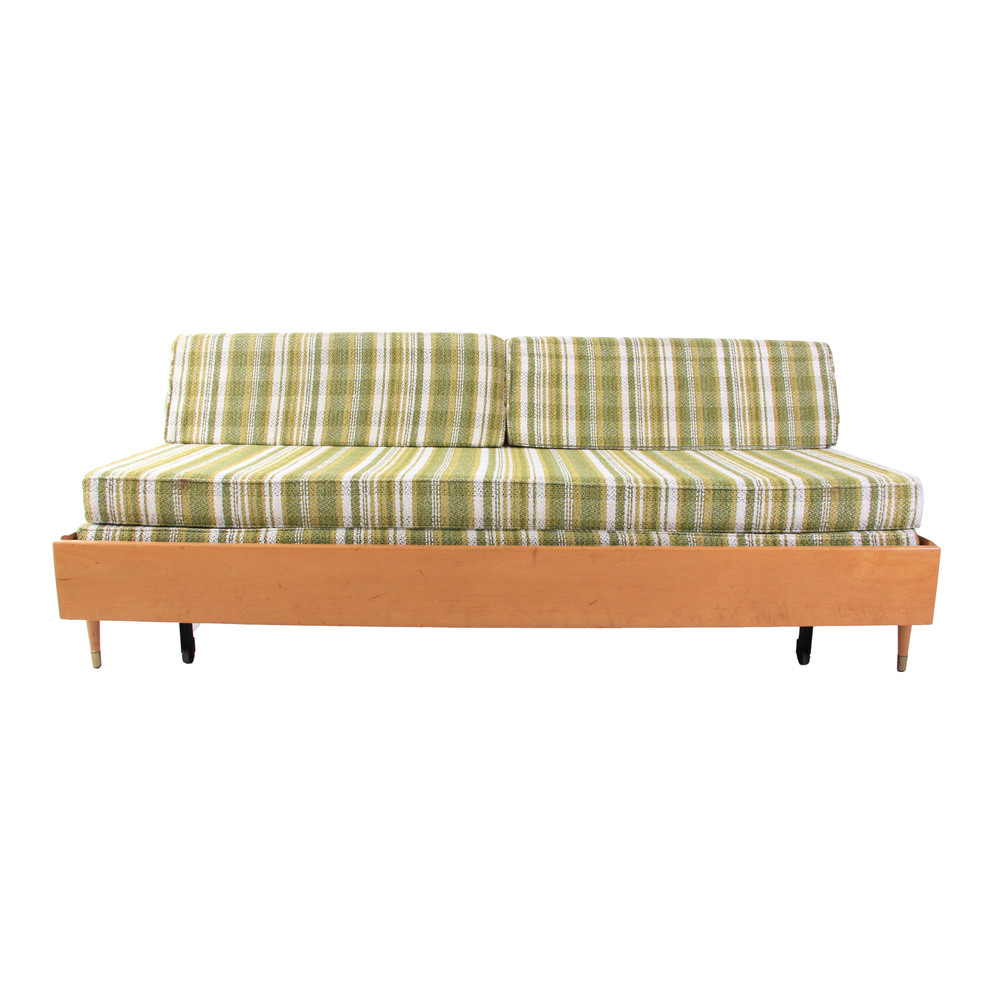Vintage Mid Century Modern Trundle Daybed Sofa
