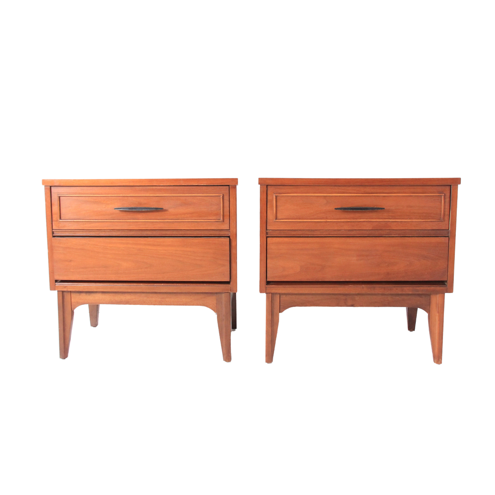 Vintage Mid Century Modern Nightstands by Dixie