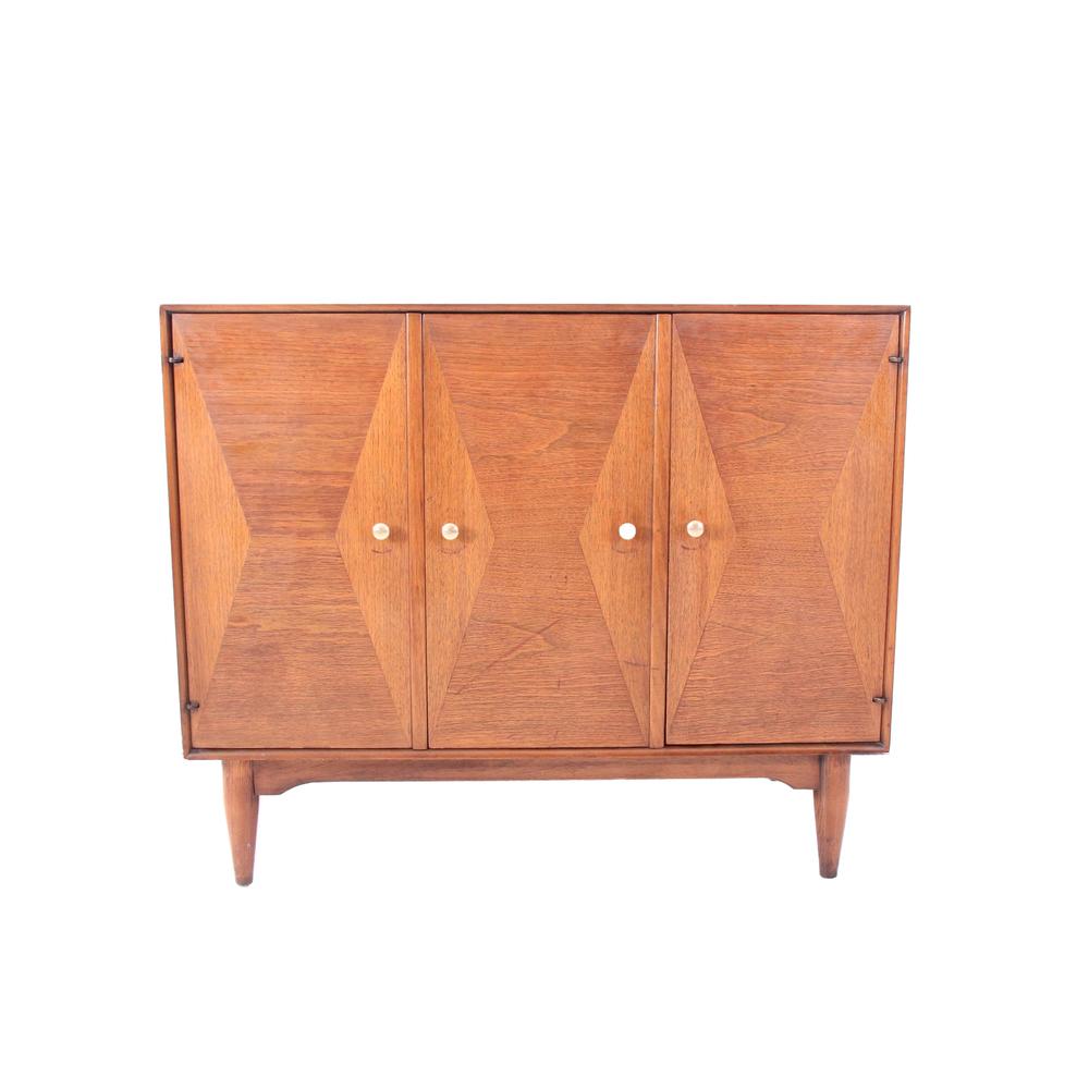 Vintage Mid Century Modern Bar Cabinet