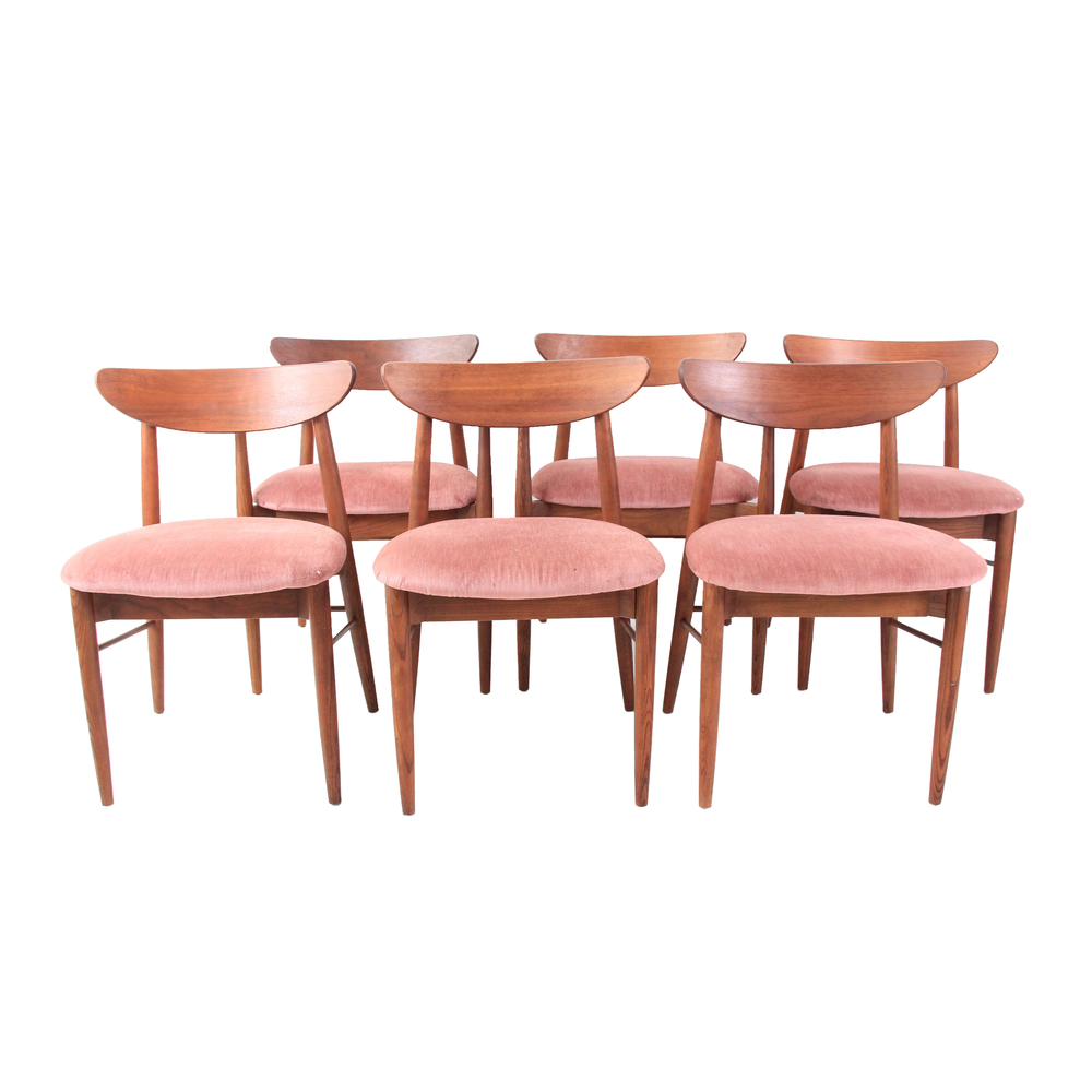 Set of 6 Vintage Mid Century Modern Dining Chairs