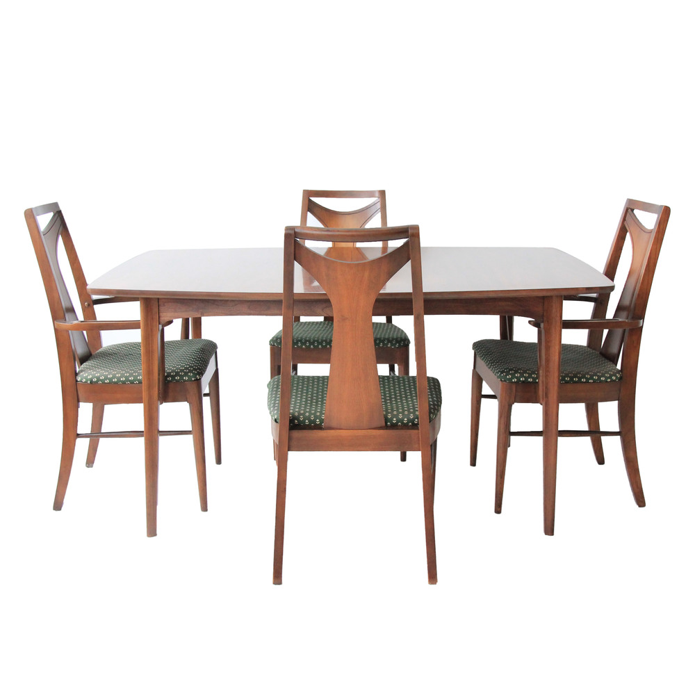 vintage mid century modern dining room table and chairs.jpg