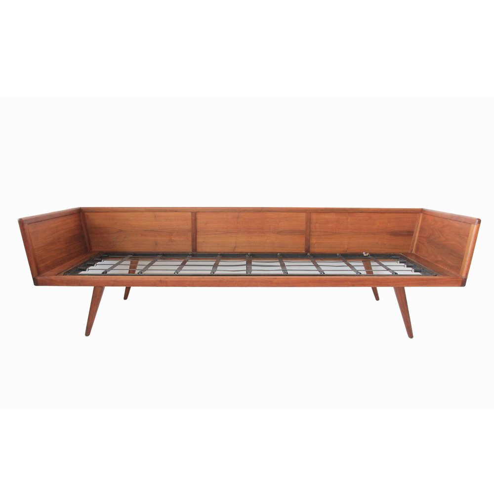 Vintage Mid Century Modern Wood Sofa by Smilow Thielle.jpg