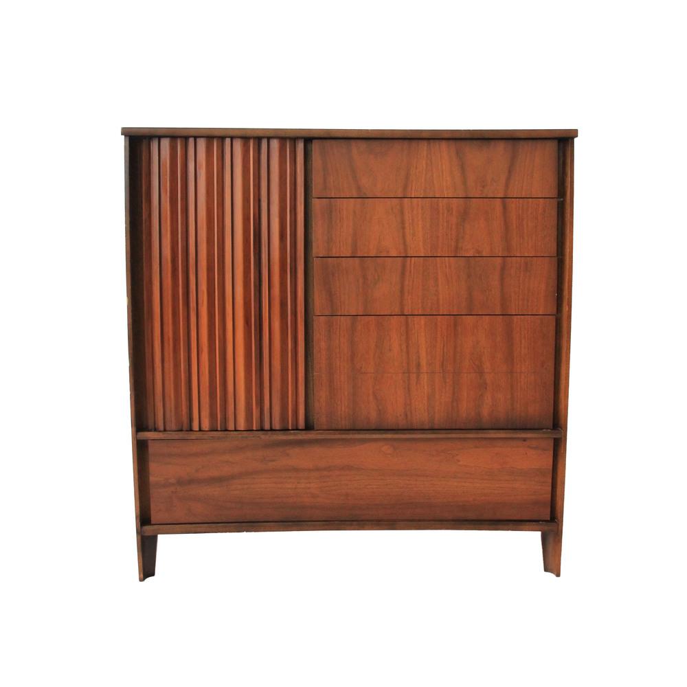 Vintage Mid Century Modern Highboy Dresser by Strata Unagusta