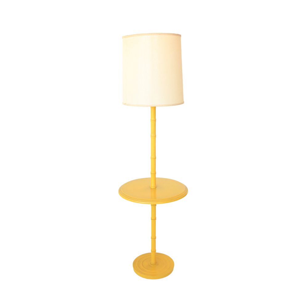 Vintage Yellow Floor Lamp