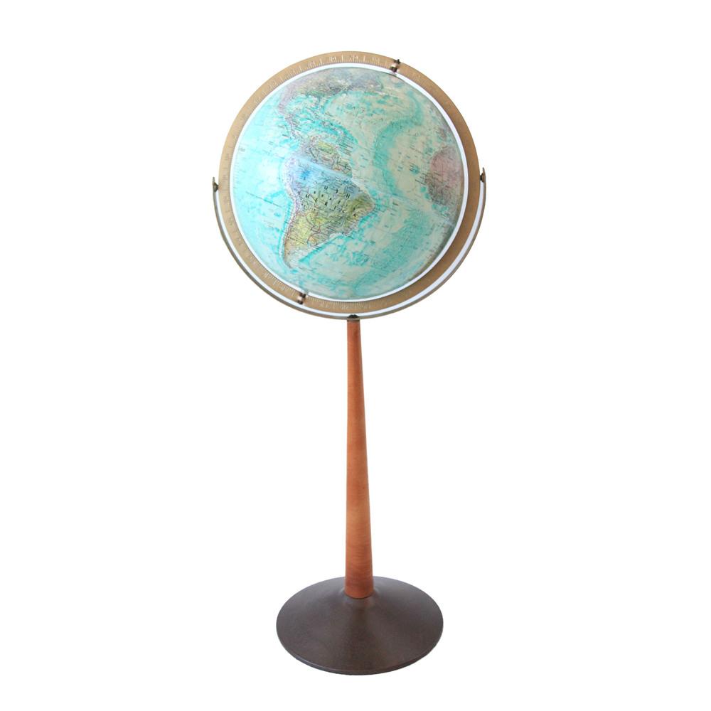 Vintage Mid Century Modern Standing Globe
