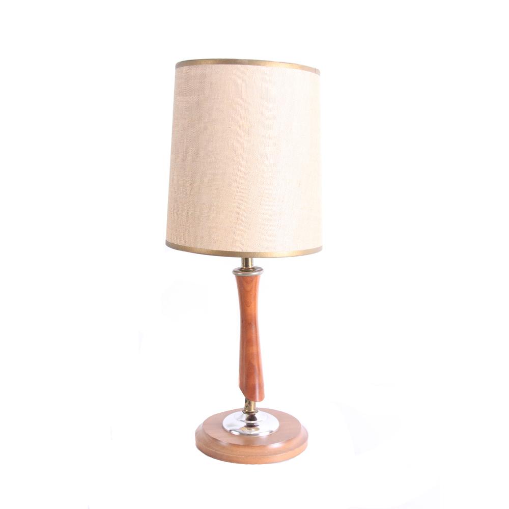 Vintage Mid Century Modern Wood Lamp