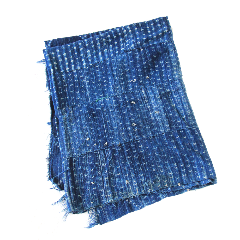 Vintage African Indigo Mud Cloth