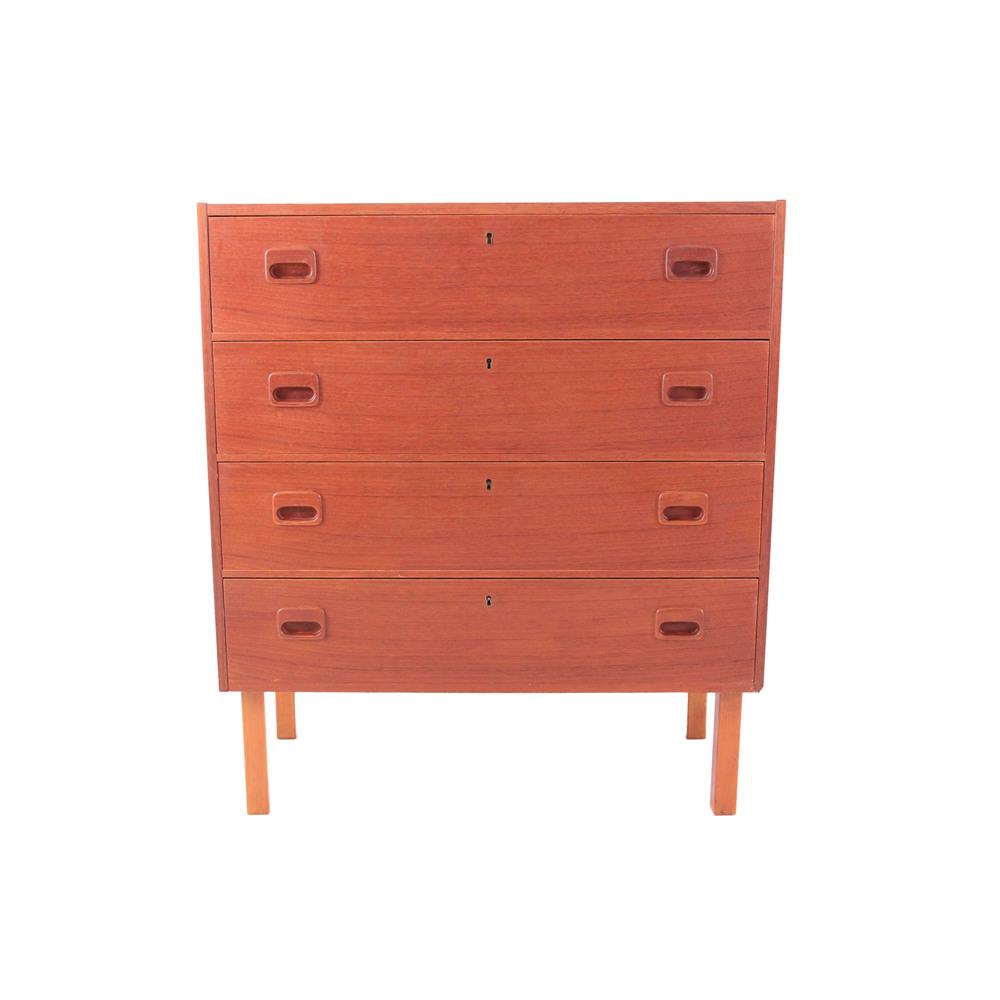 Vintage Mid Century Modern Teak Dresser