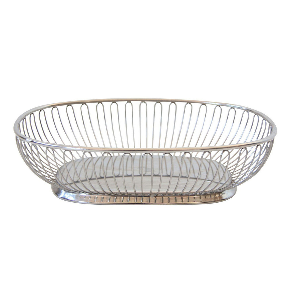 Vintage Mid Century Modern Chrome Wire Bowl
