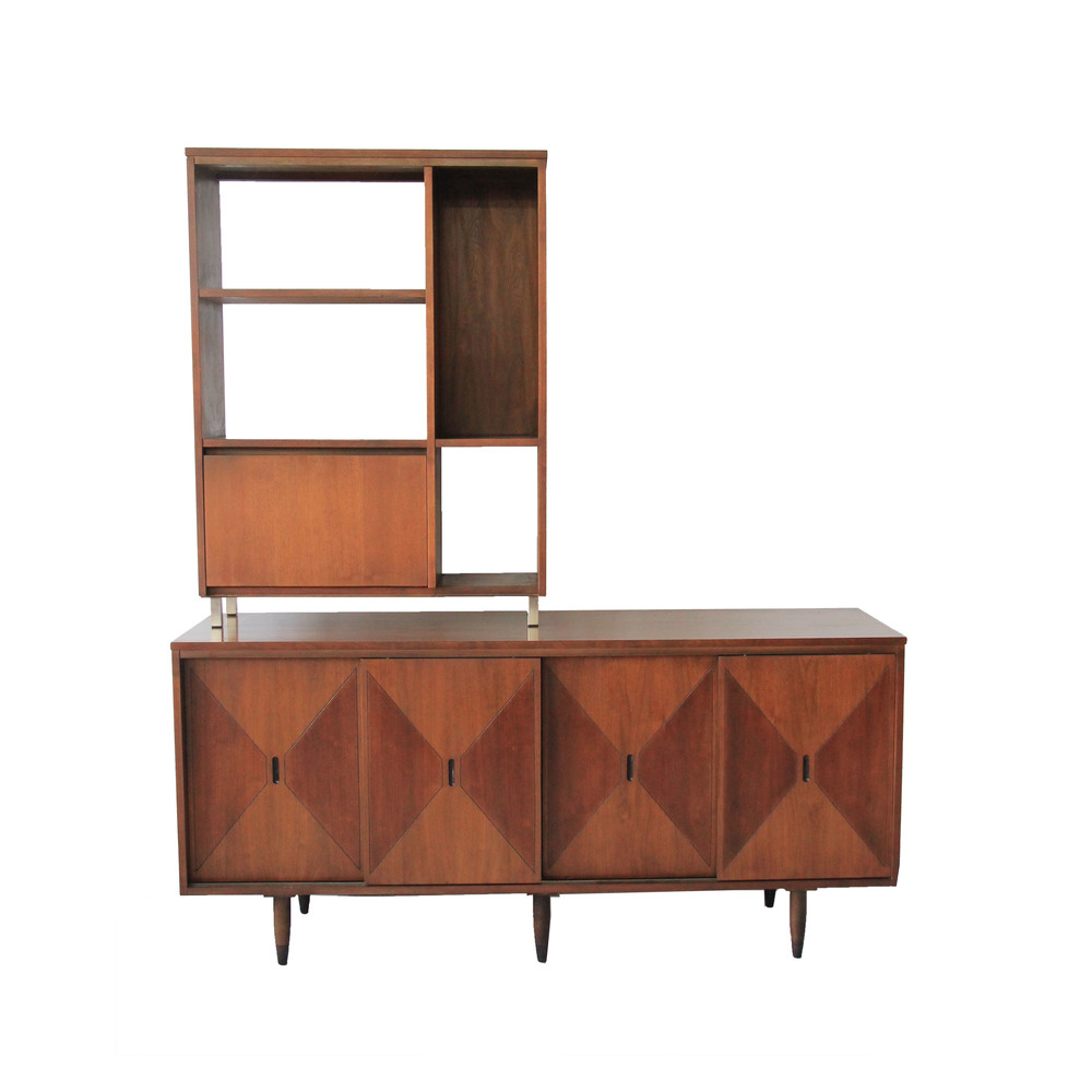 Vintage Diamond Hutch & Room Divider