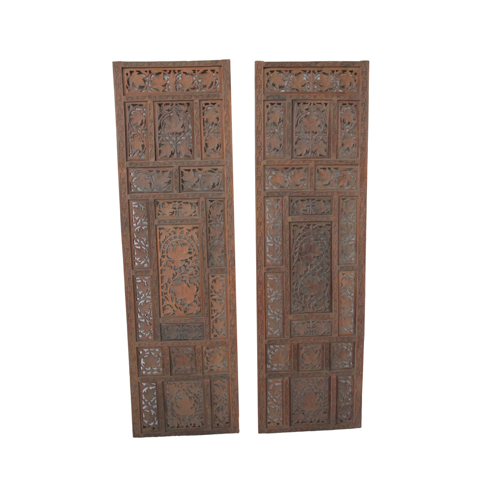 Vintage Moroccan Wood Panels