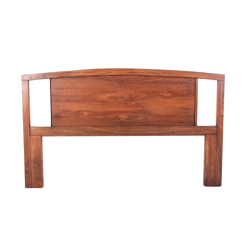 Vintage Mid Century Modern Arched Headboard