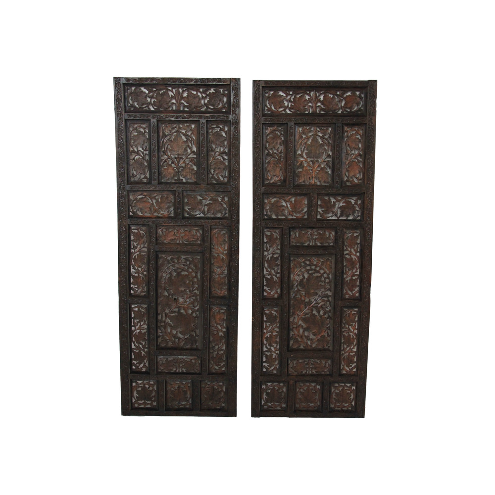 Vintage Wood Moroccan Panels