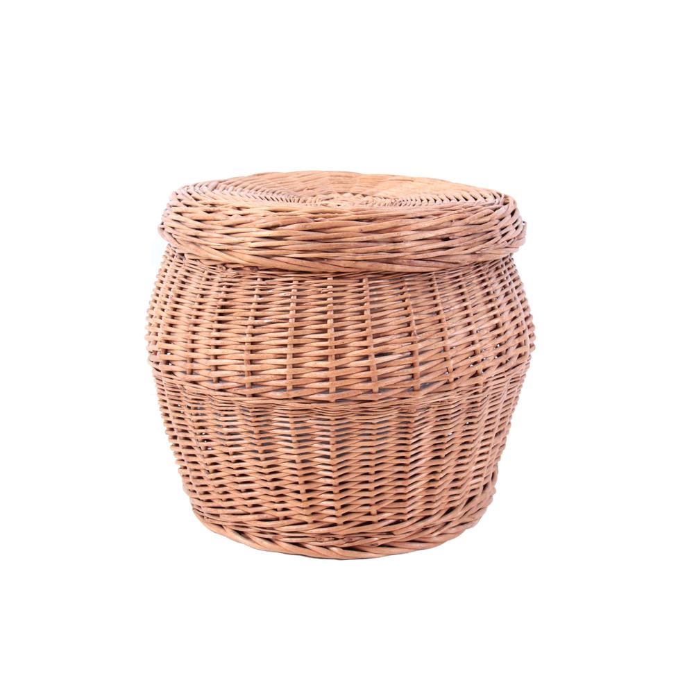 Vintage Mid Century Modern Wicker Basket
