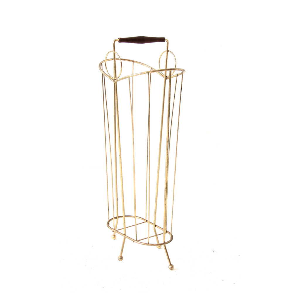 at st sight  new products  vintage brass and wood mid century modernumbrella stand. at st sight  new products  vintage brass and wood mid century
