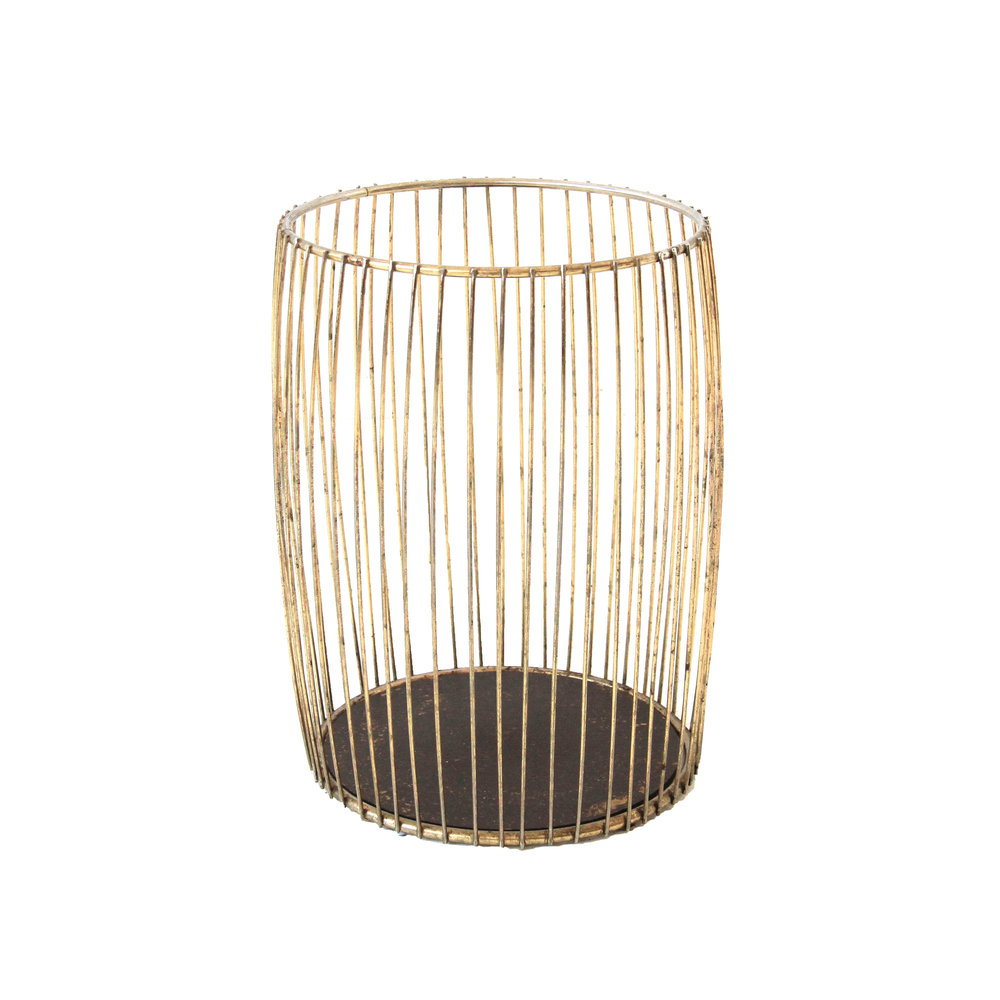 Vintage Brass Waste Basket