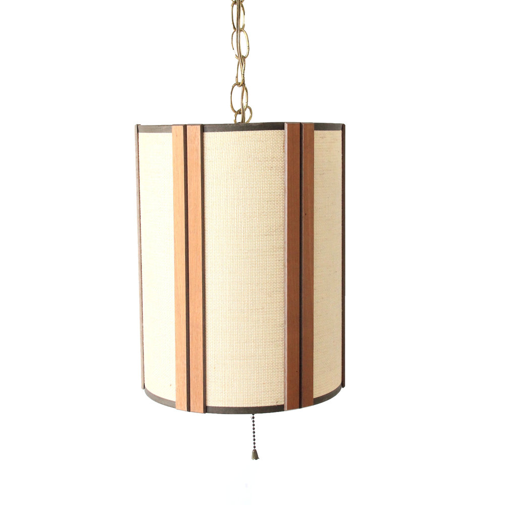 Vintage Mid Century Modern Hanging Light