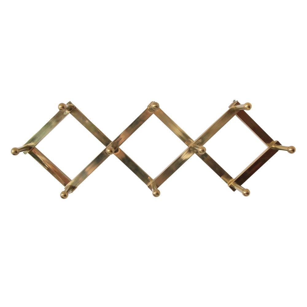 Vintage Mid Century Modern Brass Hooks