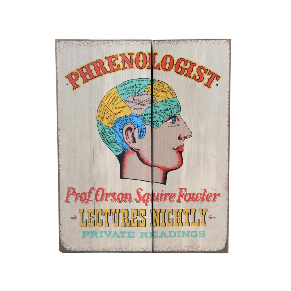 Vintage Phrenologist Sign