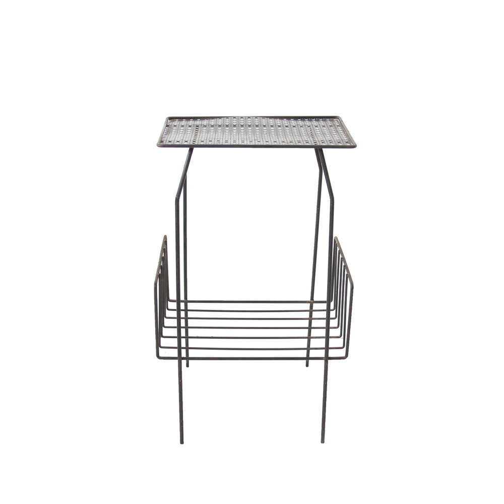 Vintage Mid Century Modern Mesh Metal Table