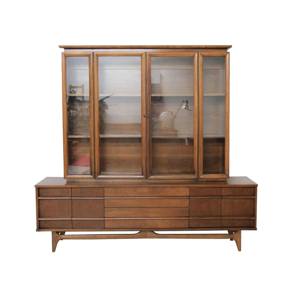 Vintage Mid Century Modern Hutch Cabinet