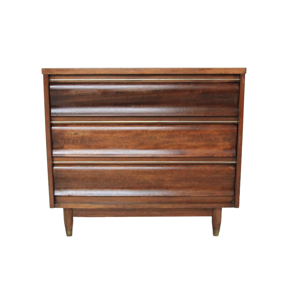 Vintage Mid Century Modern Dresser by United