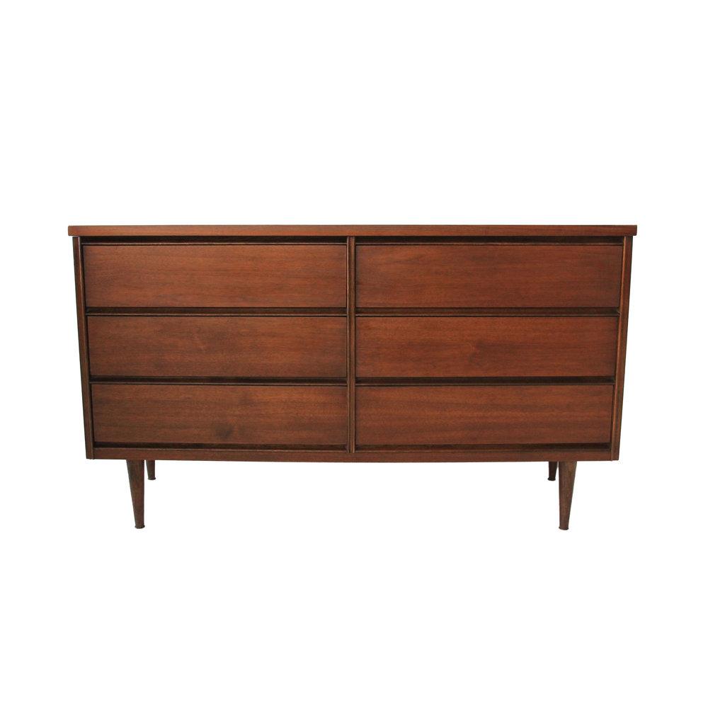 Vintage Mid Century Modern 6 Drawer Dresser