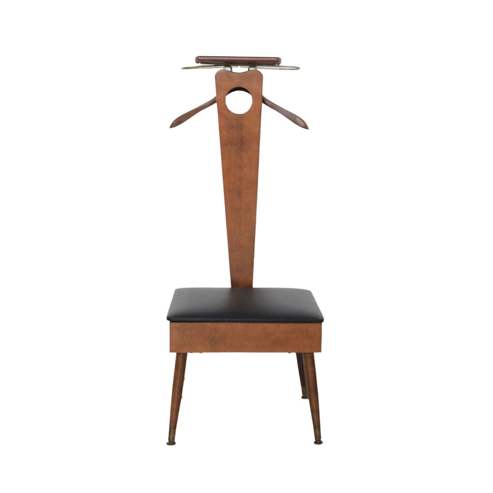 Vintage Mid Century Modern Gentleman's Valet Chair