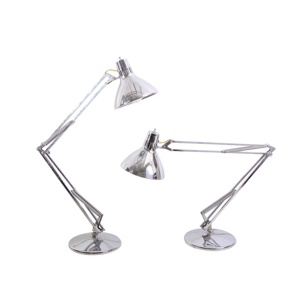 Vintage Industrial Chrome Lamps