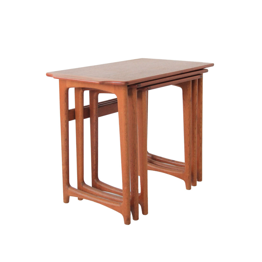 Vintage Mid Century Modern Teak Nesting Tables