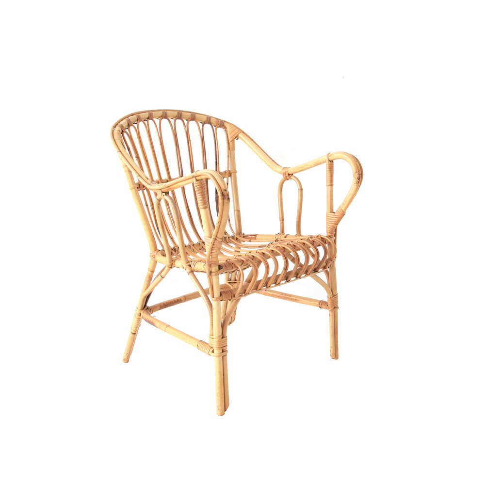 Vintage Rattan and Bamboo Chair